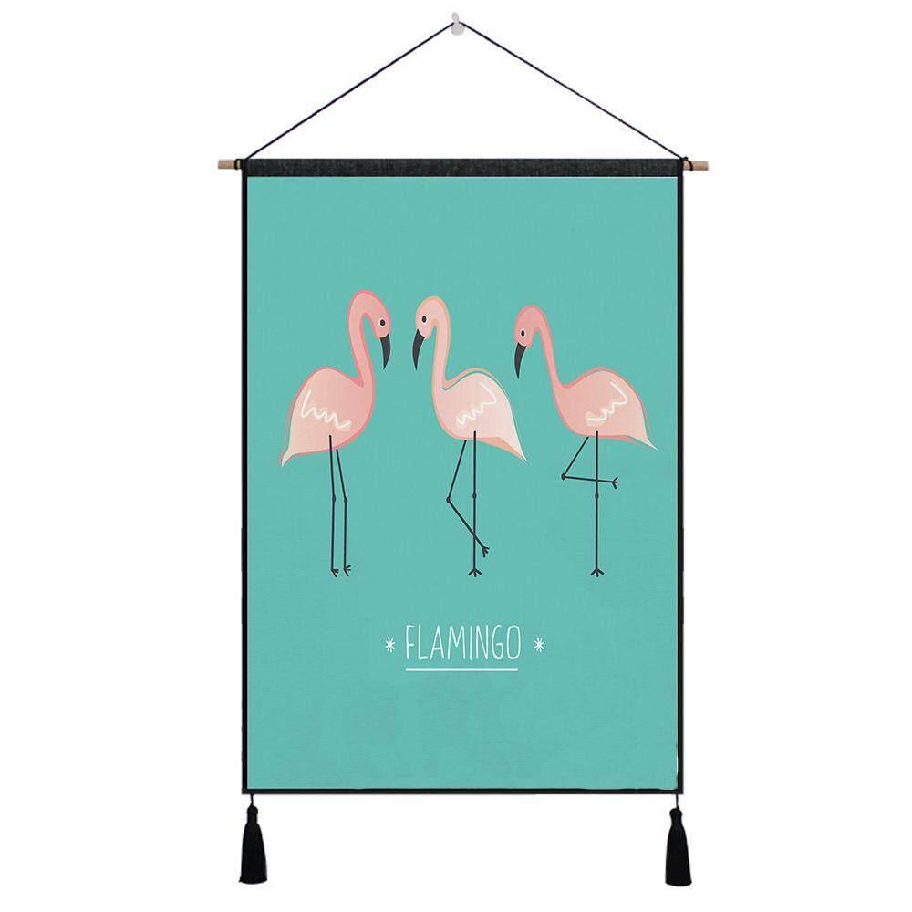 Flamingo Tapestry Dinding Seni Permadani Tropical Rumah Dekoratif Pintu Tirai Living Room Lembar Seprai Taplak Meja Gantungan Selimut Karpet 1 #-Internasional