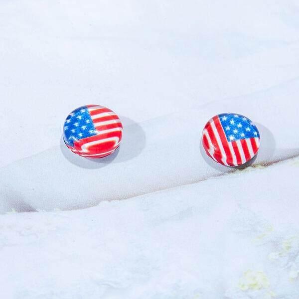 Korea Anting-Anting Temperamen Telinga Tulang Klip Magnet Sederhana Non-pierced Magnet Anting-Anting Pria dan Wanita Siswa Telinga Klip Anting-Anting wanita Kepribadian Paragraf Pendek Anting-Anting #5 Ceri # 1EXO (#6 Bendera Inggris) -Internasional