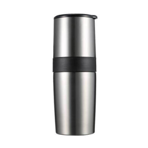 Multifunctional Portable Manual Coffee Grinder Vacuum Cup (SILVER)