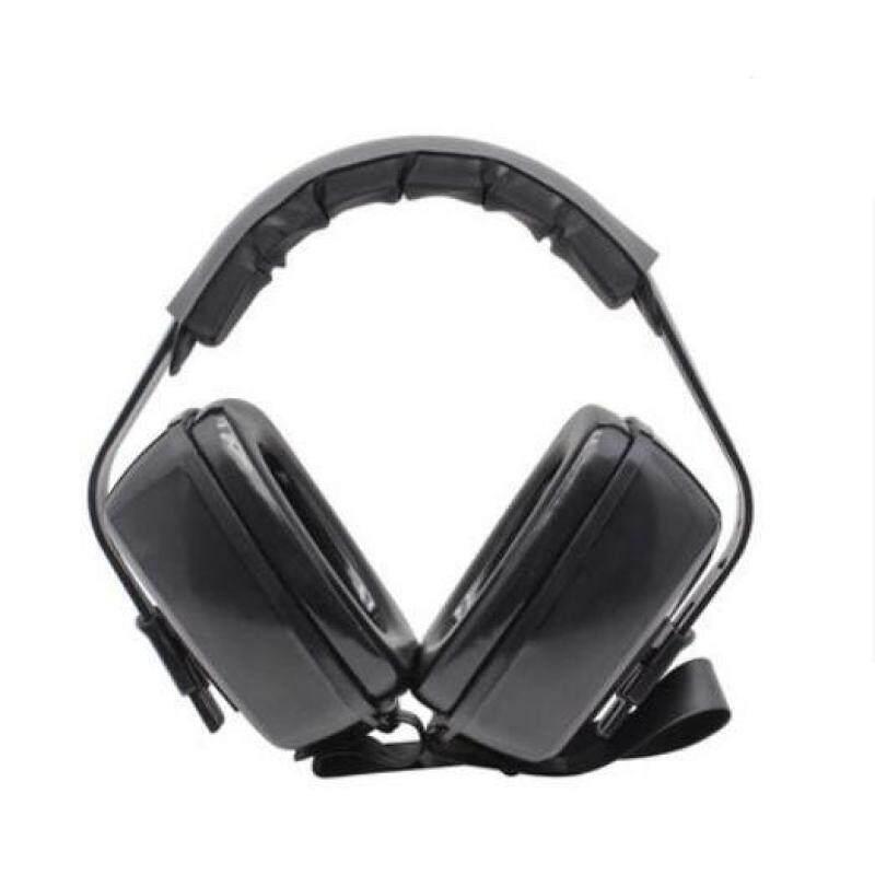 Head-mounted soundproof earmuffs Noise-proof earmuffs - Black
