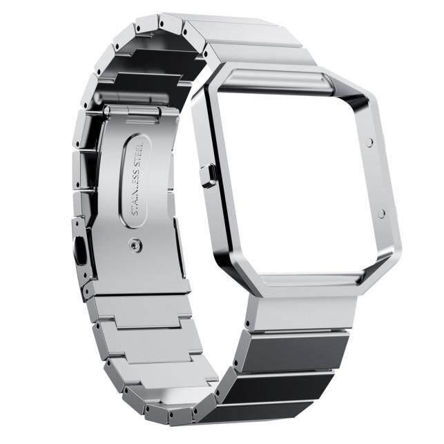 Watch Bumper Frame Case + Stailess Steel Bracelet Strap Band For Fitbit Blaze CocolMax