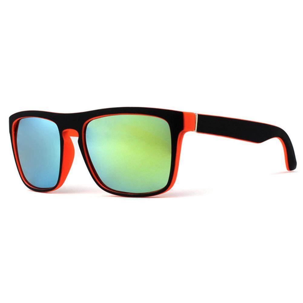 Dsstyles Mans Kacamata Terpolarisasi Kacamata Hitam Retro Persegi Helm Matahari Kacamata untuk Olahraga Luar Ruangan Bersepeda Warna Lensa: C11 Spesifikasi: tanpa Kemasan-Internasional