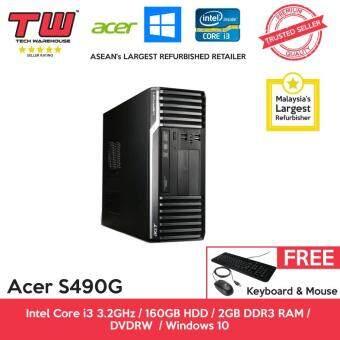 Acer S490G Core i3 3.2GHz / 2GB DDR3 RAM / 160GB HDD / Windows 10 Home Desktop PC / 3 Months Warranty (Factory Refurbished)