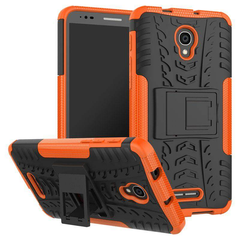 Case for Alcatel Pop 4 Plus Hyun Pattern Dual Layer Shockproof Kickstand Hybrid Armor 2 In 1 Cover - intl