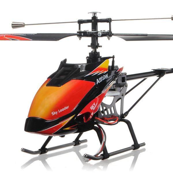 Wltoys V913 27 Inci 2.4G 4CH RC Jarak Jauh Pengendali Helikopter Pisau Tunggal Kami-