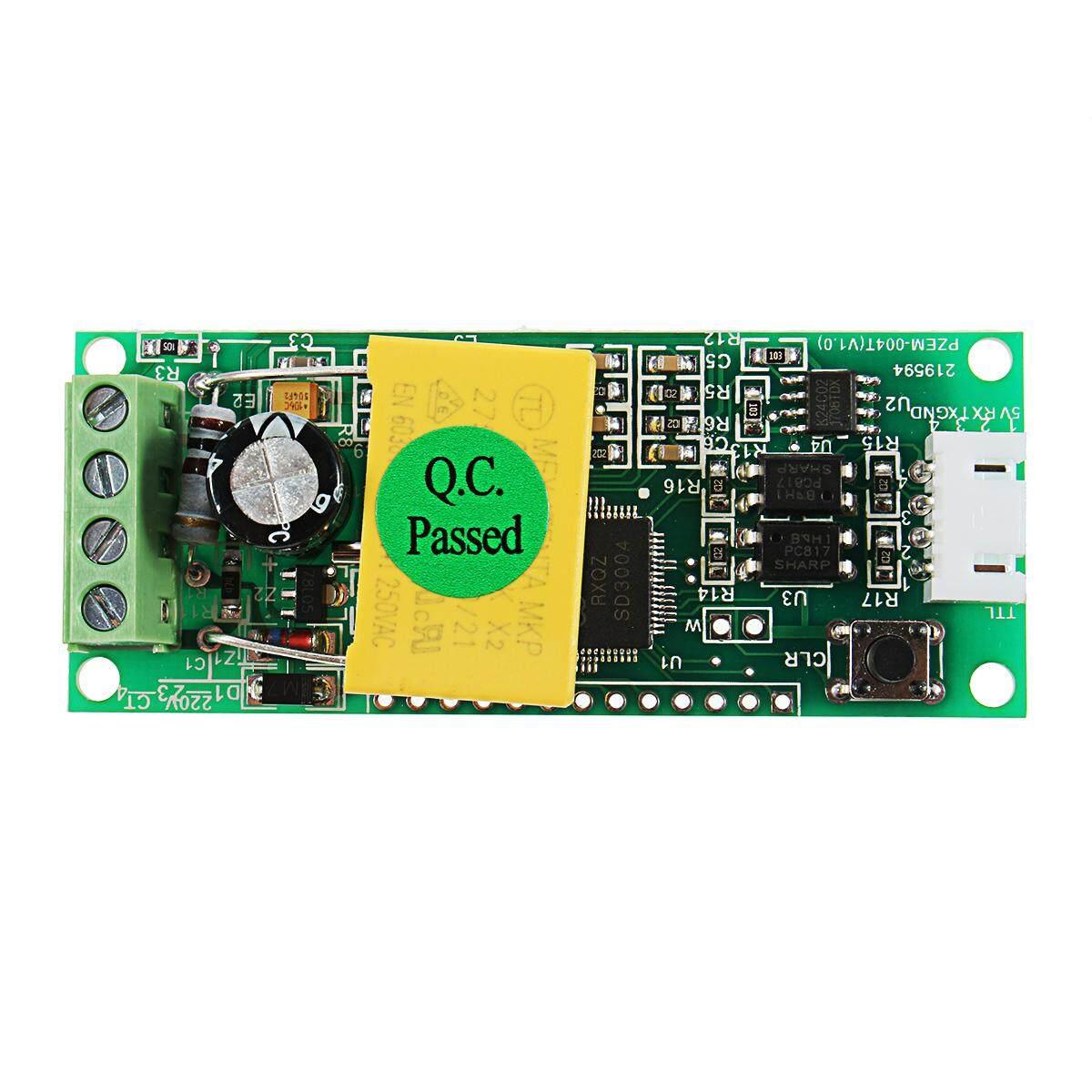 AC Digital Meteran Multifungsi Watt Power Volt Amp TTL Uji Arus Modul PZEM-004T dengan Coil 0-100A 80-260 V AC untuk arduino-Internasional