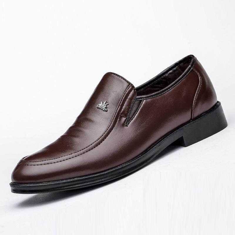 Pria Bisnis Sepatu 2018 Baru Penny Loafer untuk Pria Polos Selip-On Platform Datar Pu Kulit Sepatu Gaun -Internasional