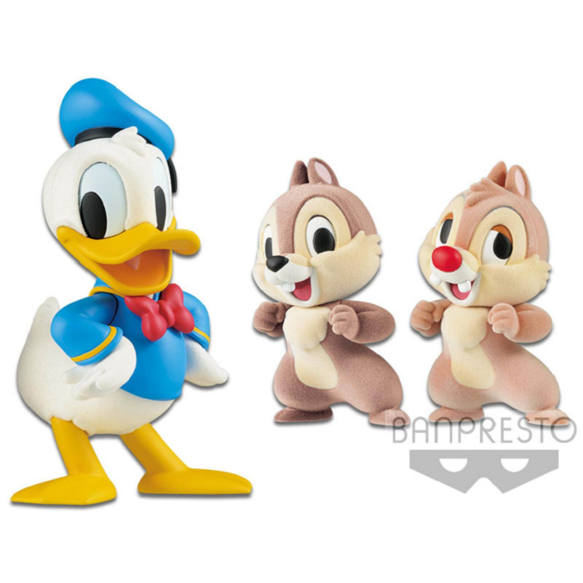Banpresto Fluffy & Puffy Disney Figure - Donald & Chip And Dale Toys for boys