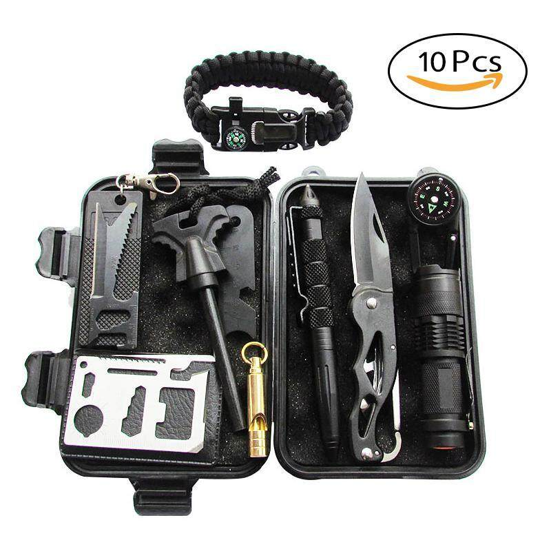 Leegoal Sos Travel Safety Survival Emergency Gear Kit Outdoor Survival Bag Box Whistle Field Set Camping Equipment - Intl By Leegoal.