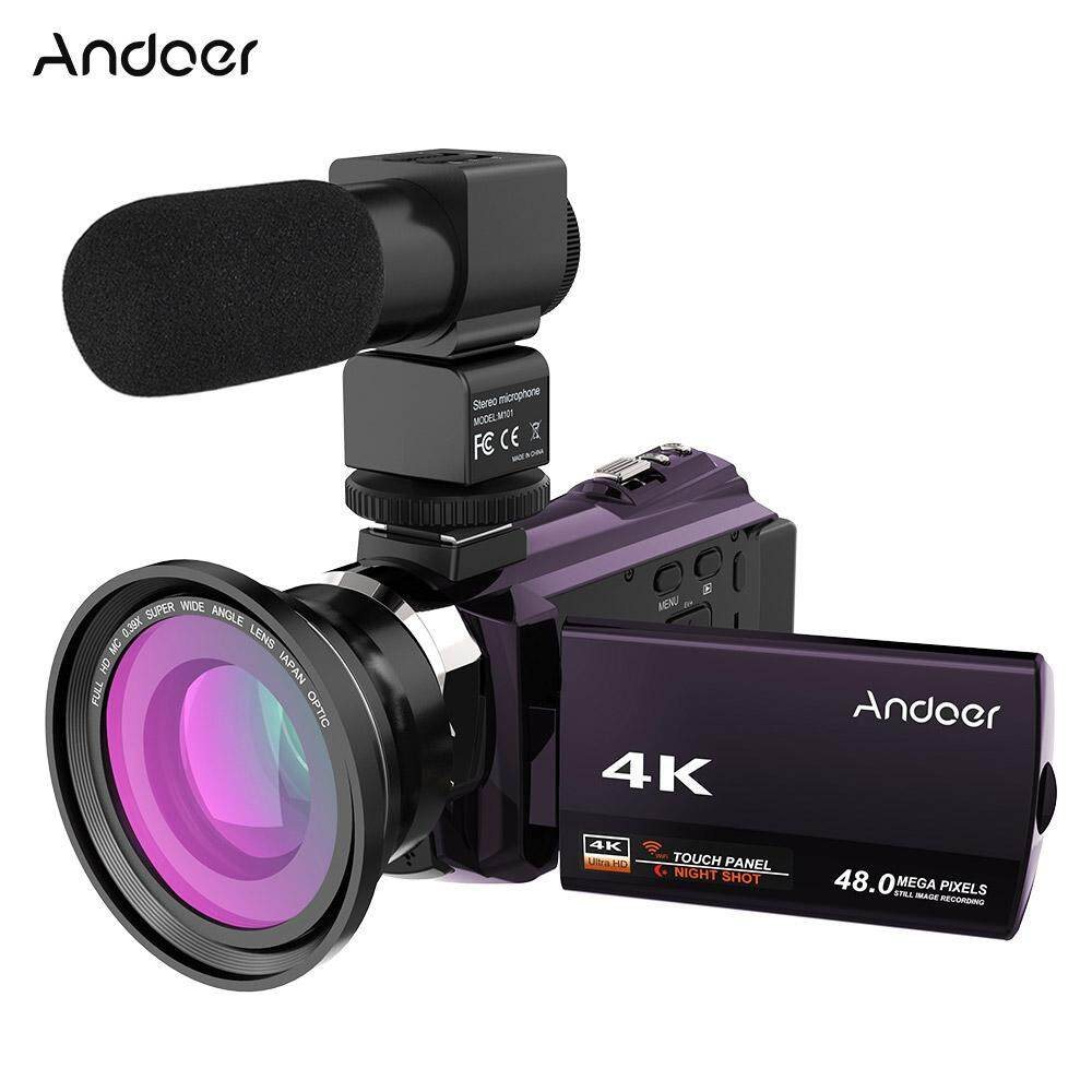 Andoer 4k 1080p 48mp Wifi Digital Video Camera Camcorder Recorder With 0.39x Wide Angle Macro Lens External Microphone Novatek 96660 Chip 3inch Capacitive Touchscreen Ir Infrared Night Sight 16x Digital Zoom - Intl By Tomtop.