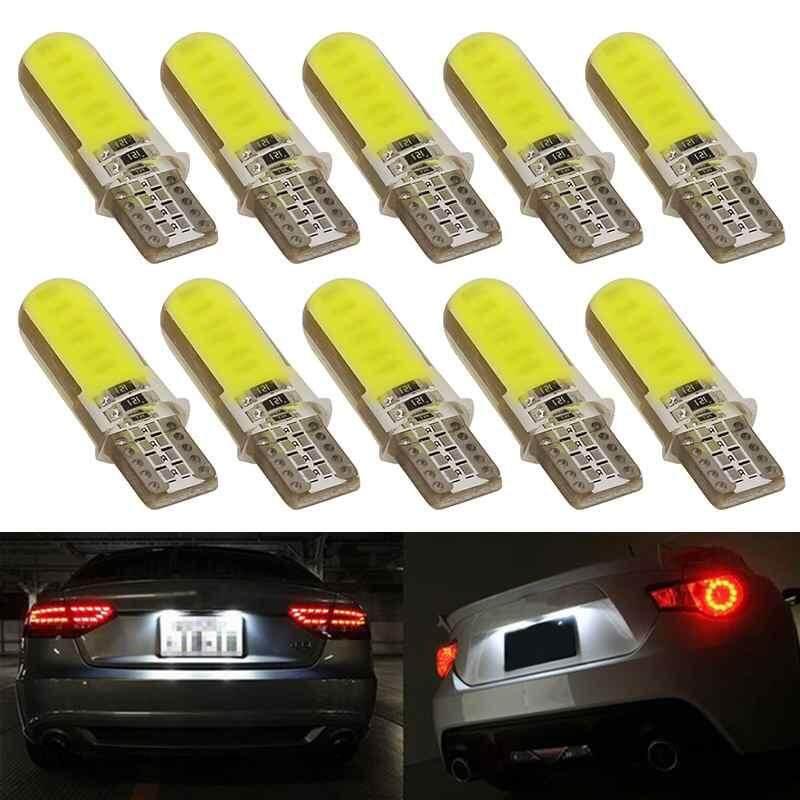 Watson 10 Pcs T10 LED 12SMD Mobil Interior Ringan COB Bohlam Wedge Parkir Kubah Cahaya Putih