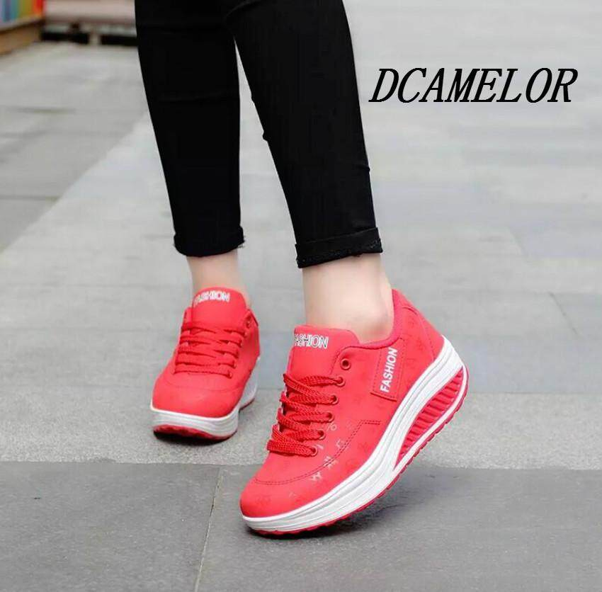 DCAMELOR Sneakers Women Platform Shoes Women Sport Running Shoes Thick Bottom Ladies Wedges Running Outdoor Krasovki Women Sneakers Best Selling - intl