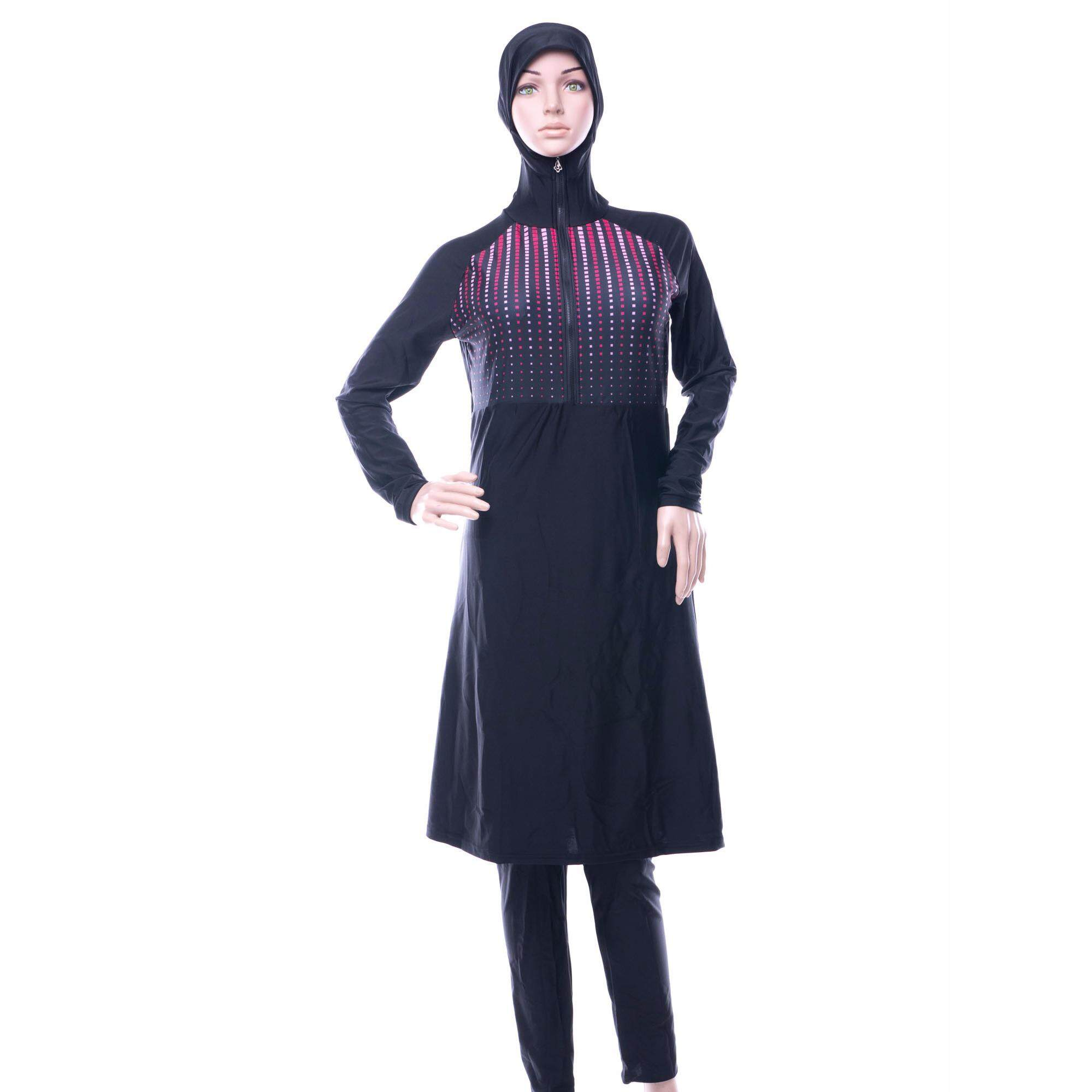 Muslimah Swimsuit With Hijab Swimwear Full Coverage