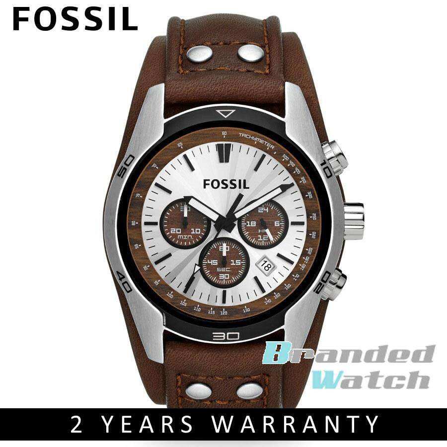 Cek Harga Fossil Ch2891 Coachman Chronograph Brown Leather Strap Es4113 Original Ch2565 Mens Watch