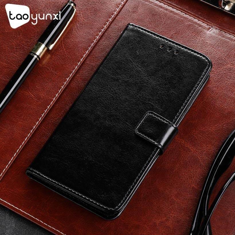 Taoyunxi Telepon Kulit PU Case S untuk Alcatel A7 XL A7 XL 7071DX 6.0 Sarung Pelindung Inci Flip Pelindung Dompet Anti Debu Sarung Selular