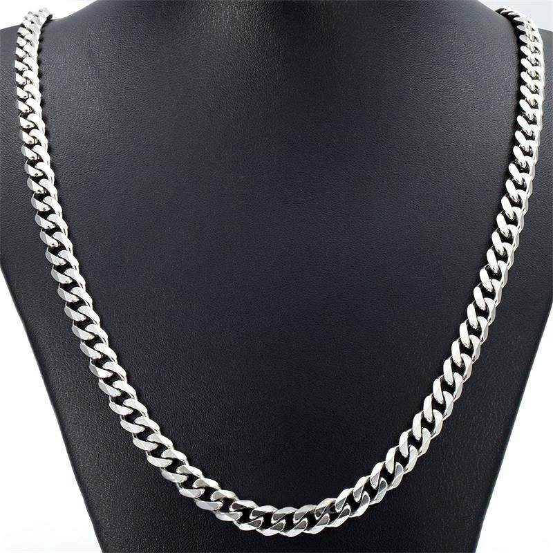 b21087c8305 Fang Fang Boys Mens Chain Stainless Steel Curb Link Necklace - 5mm, 24 inch(