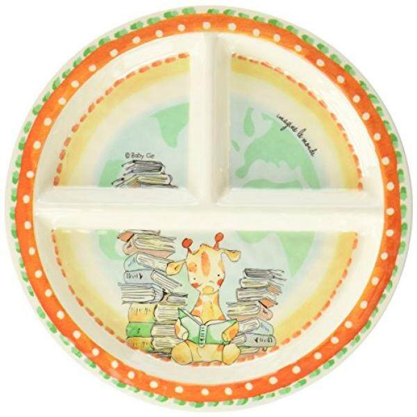 Baby Cie Baby Cie Imagine Le Monde Imagine The World Round Textured Sectioned Plate, Multicolor - intl