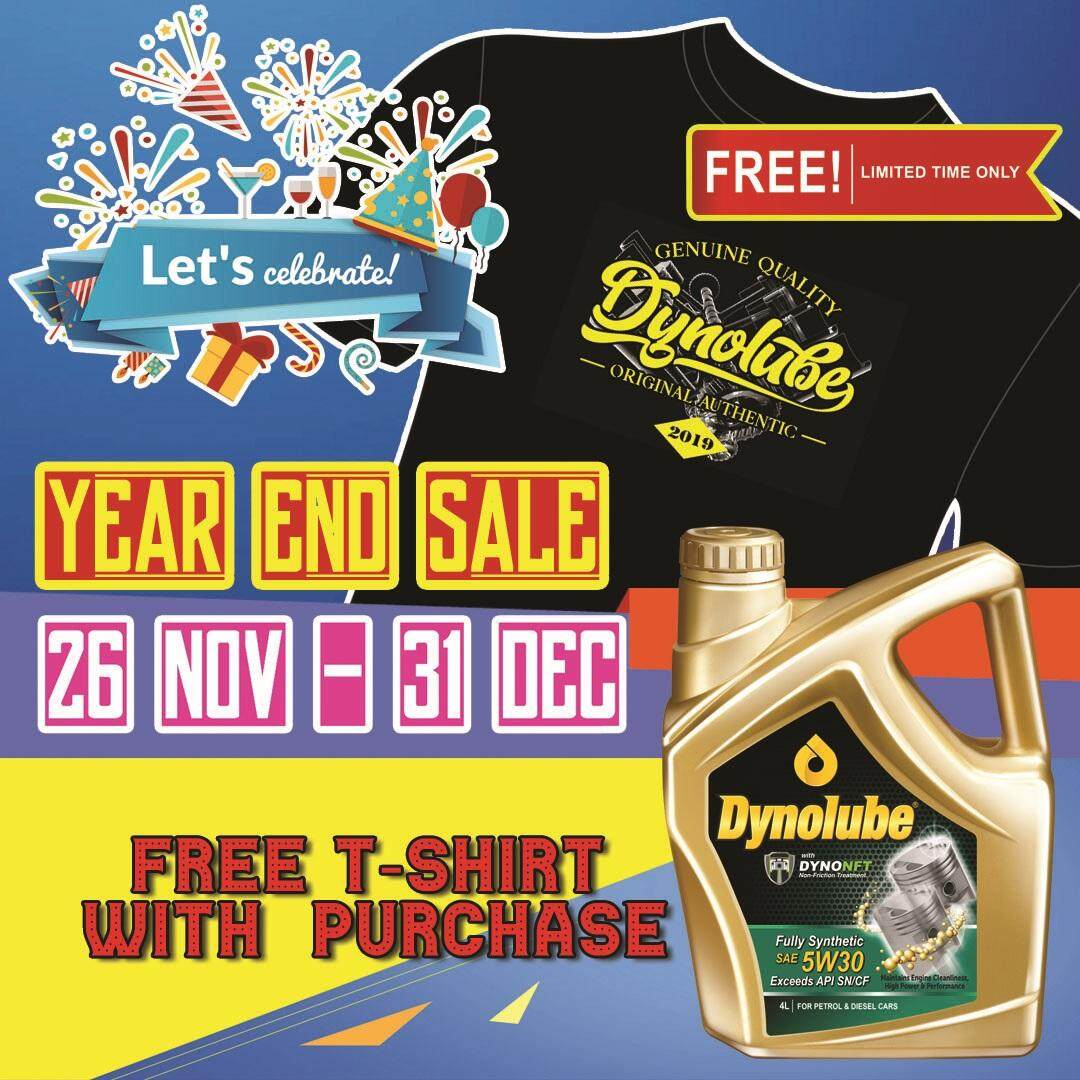 Dynolube 5W30 with DYNONFT Fully Synthetic Engine Oil SN/CF 4Liter FREE 1 X T-Shirt (E)
