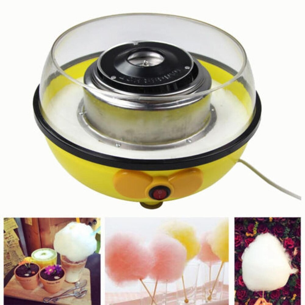 Cotton Candy Maker Machine Floss Commercial Carnival Party Fluffy Sugar Yellow By Glimmer.