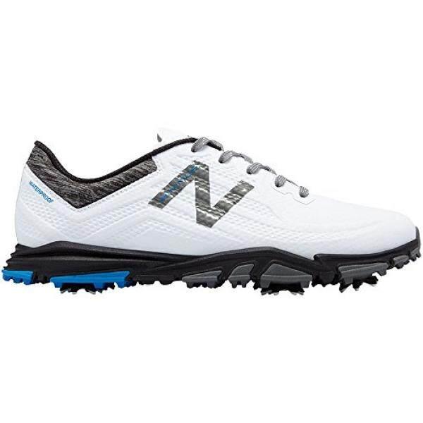 New Balance Pria Minimus Tour Golf Shoe, Putih/Hitam, 9 D D AS-Internasional