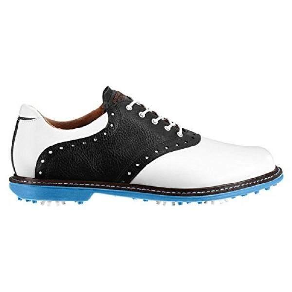 Ashworth Kingston รองเท้ากอล์ฟ 2014 สีขาว/ดำ/azure 10 - Intl By 15store.