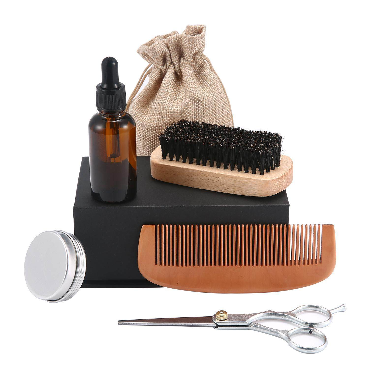 Leegoal Men Beard Oil Kit With Beard Oil Brush Comb Beard Cream Grooming Trimming Kit Male Beard Care Set Intl Compare Prices