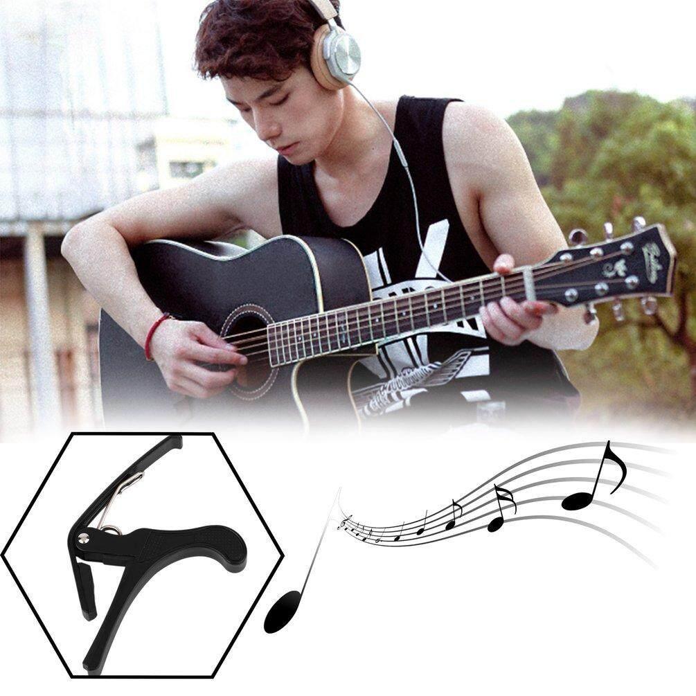 ELEC New Acoustic Electric Tune Quick Change Trigger Guitar Capo Key Clamp Black