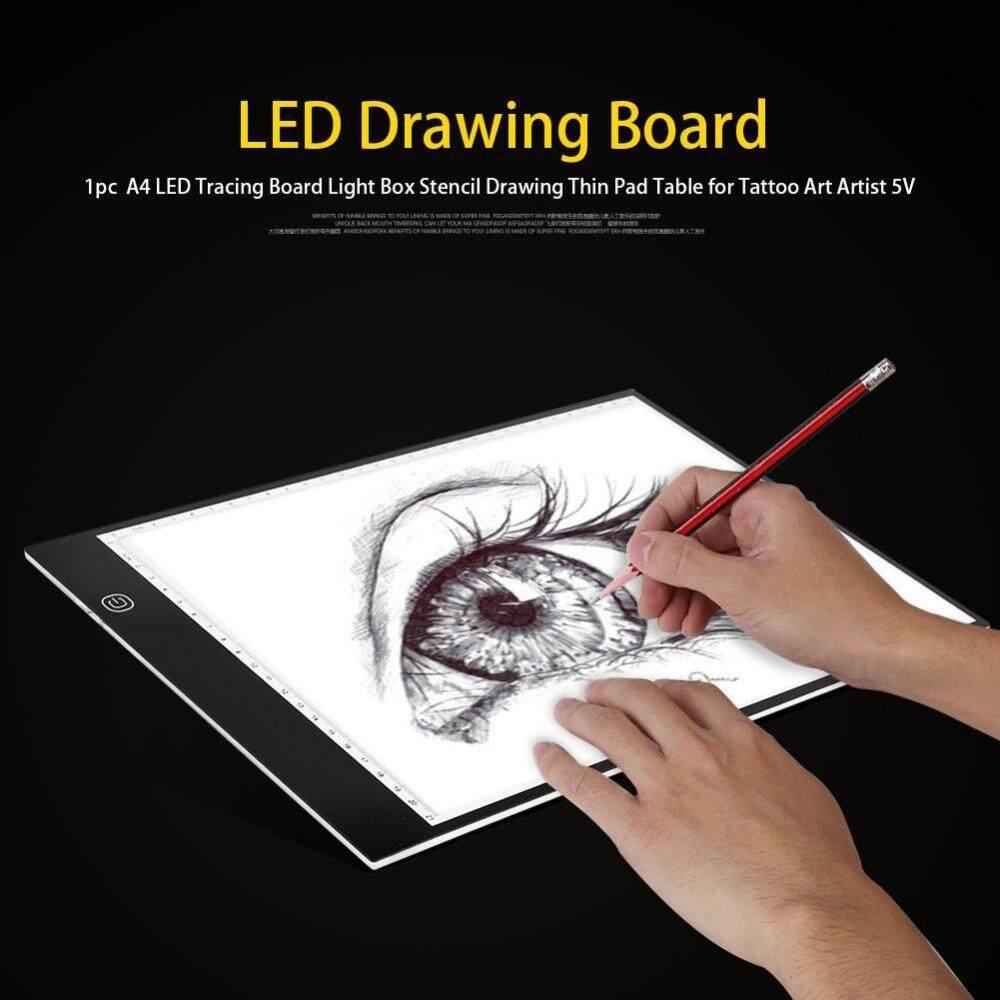 A4 LED Truy Tìm Dấu Vết Ban Hộp Đựng Đèn Stencil Vẽ Mỏng Miếng Lót Bàn cho Hình Xăm Nghệ Thuật Nghệ Sĩ-quốc tế