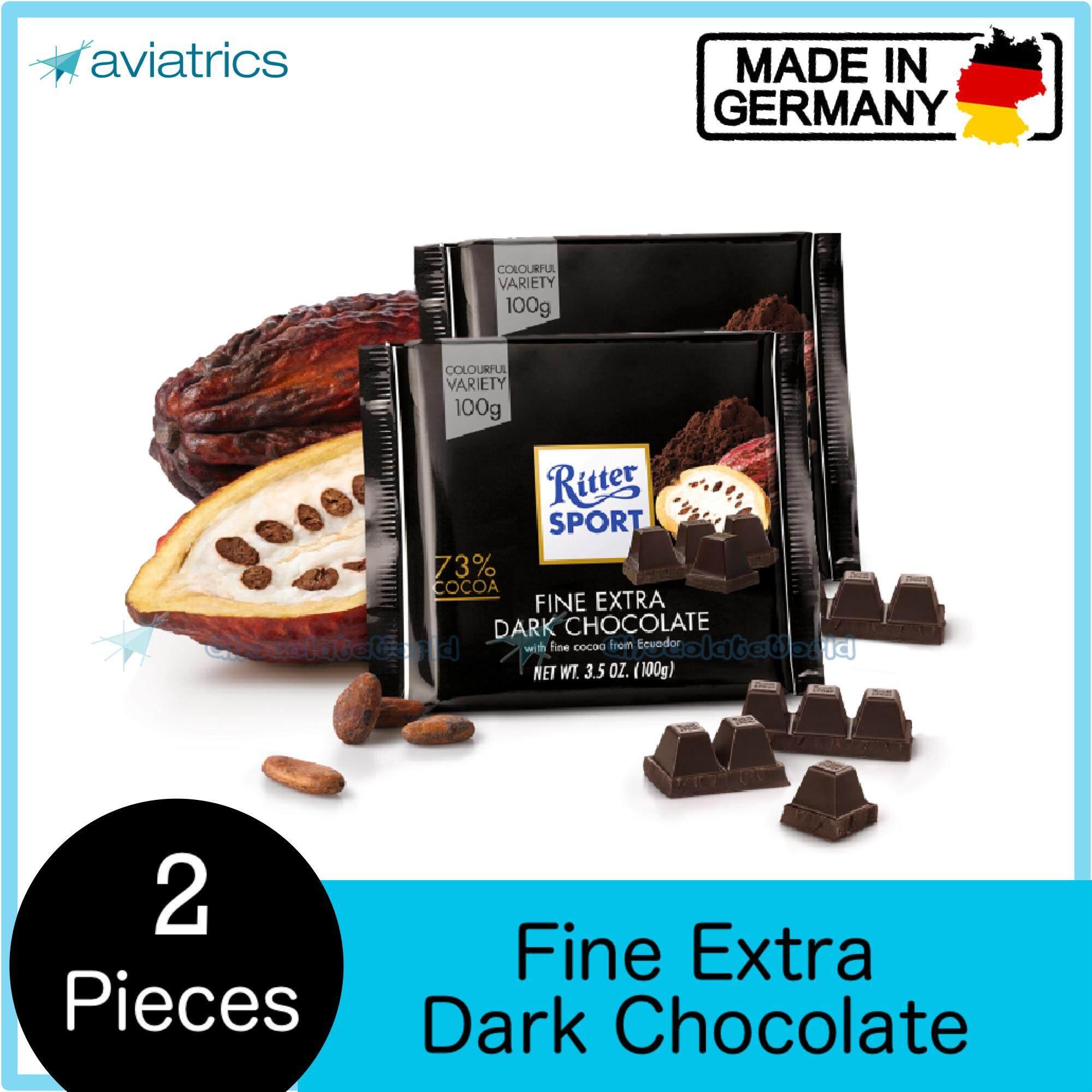 Ritter Sport Fine Extra Dark Chocolate 2 X 100g