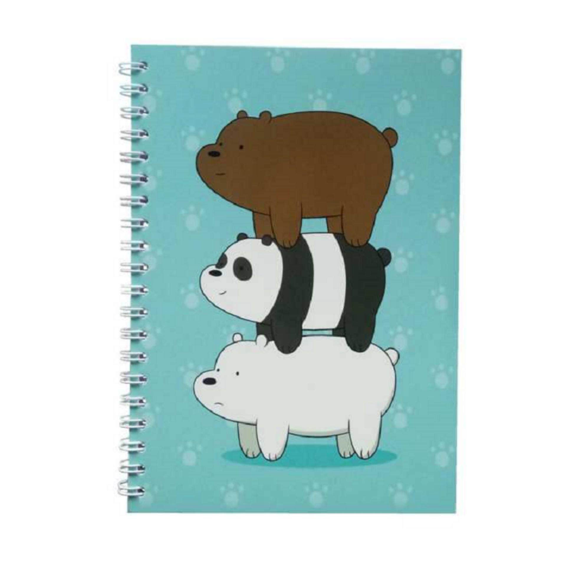 We Bare Bears Notebook - Turquoise Colour