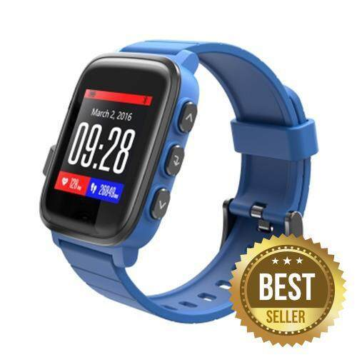 SMA Q2 BLUETOOTH 4.0 HEART RATE MONITOR SMART WATCH FOR ANDROID IOS (BLUE)