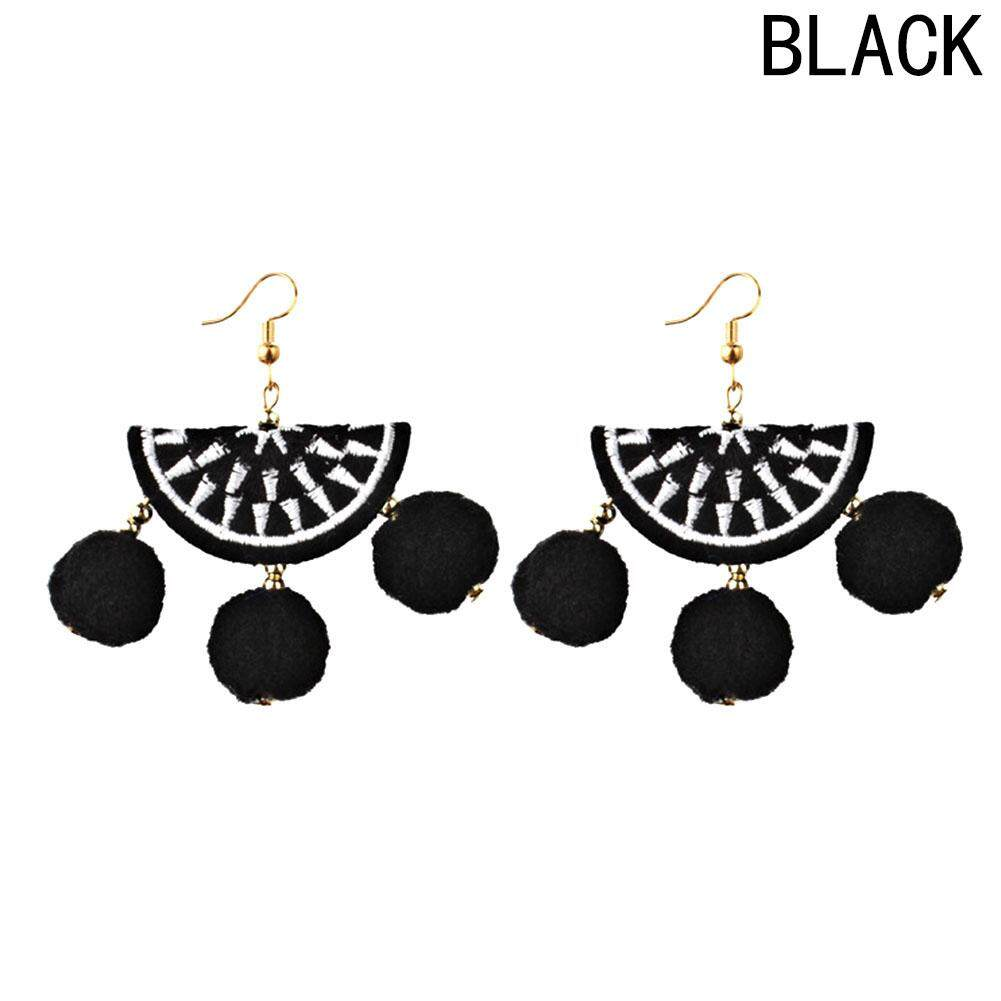 LRC ANTING TUSUK Fashion Gold Color Water Drop Shape Diamond Decorated Color Matching .