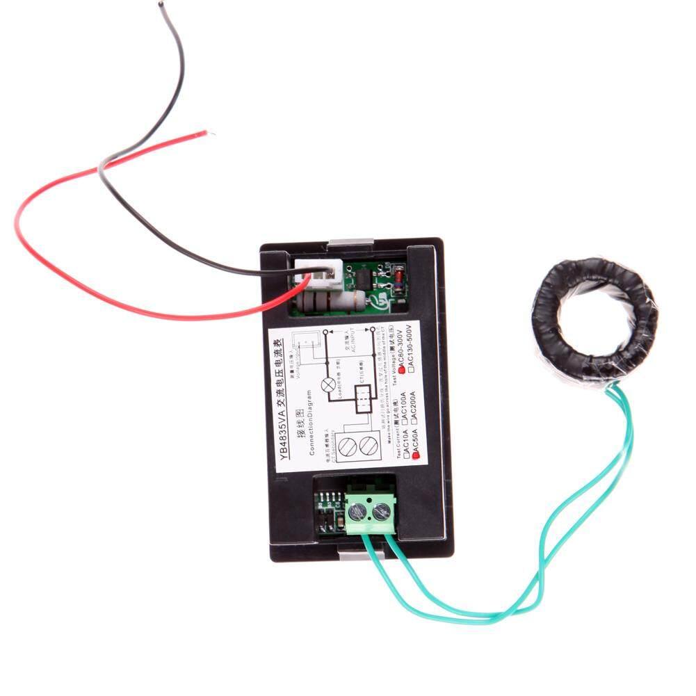 Features Ac Digital Ammeter Voltmeter Lcd Panel Amp Volt Meter 100a Wiring Diagram 300v 110v 220v 2