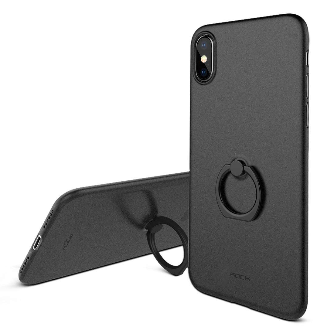 ROCK for iPhone X Ultra-thin PP Shockproof Protective Back Cover Case with Ring Holder