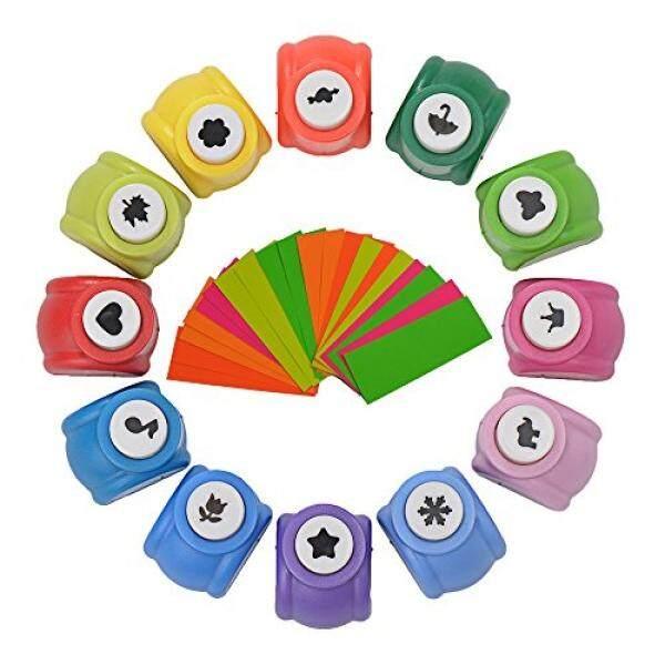 Balepha Mini Kerajinan Pembolong Kertas Kerajinan Puncher untuk Srapbooking Pembuatan Kartu 15 Patterns15 Pack-Intl