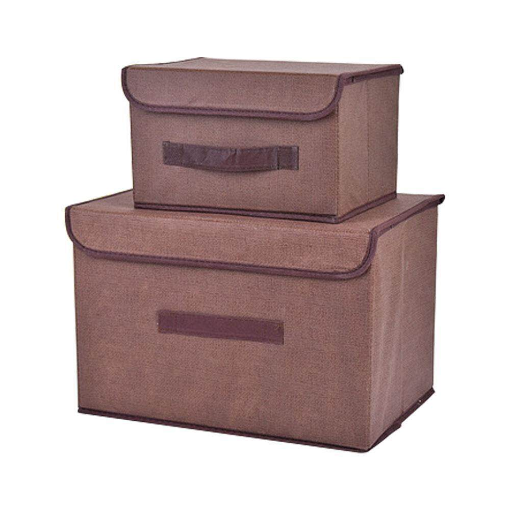 noion Office And Home Essentials Fabric Storage Box With Lids Large Foldable Storage Box With Lid Basket Bin Container
