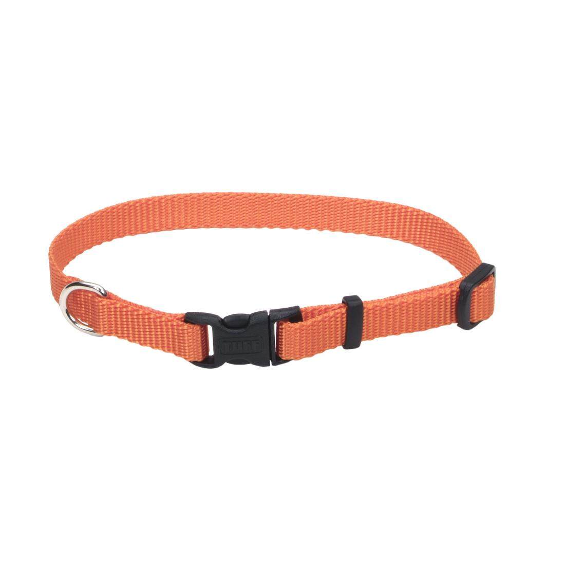 "[Coastal] Adjustable Nylon Dog Collar with Plastic Buckle 1"" L - Sunset Orange"