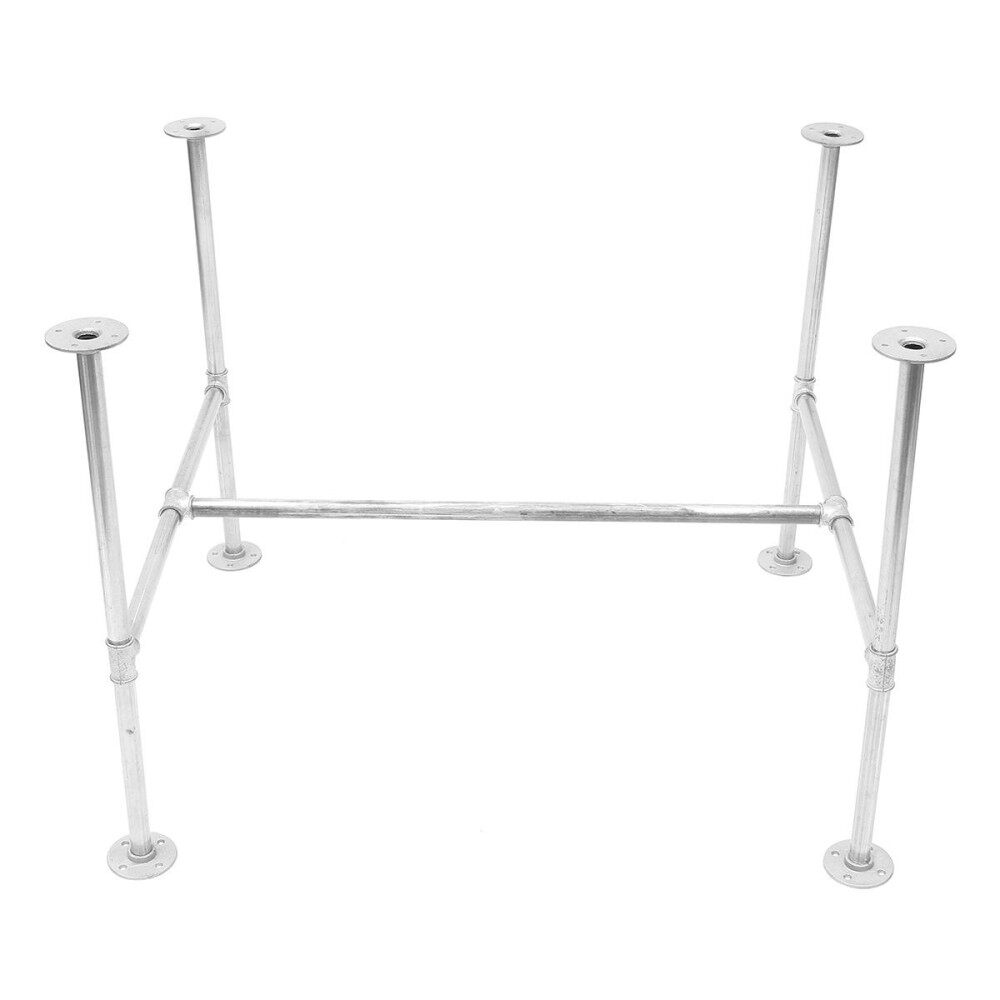 GALVANISED METAL PIPE TABLE BASE INDUSTRIAL DINING KITCHEN GARDEN TABLE DIY BAR(180cm)