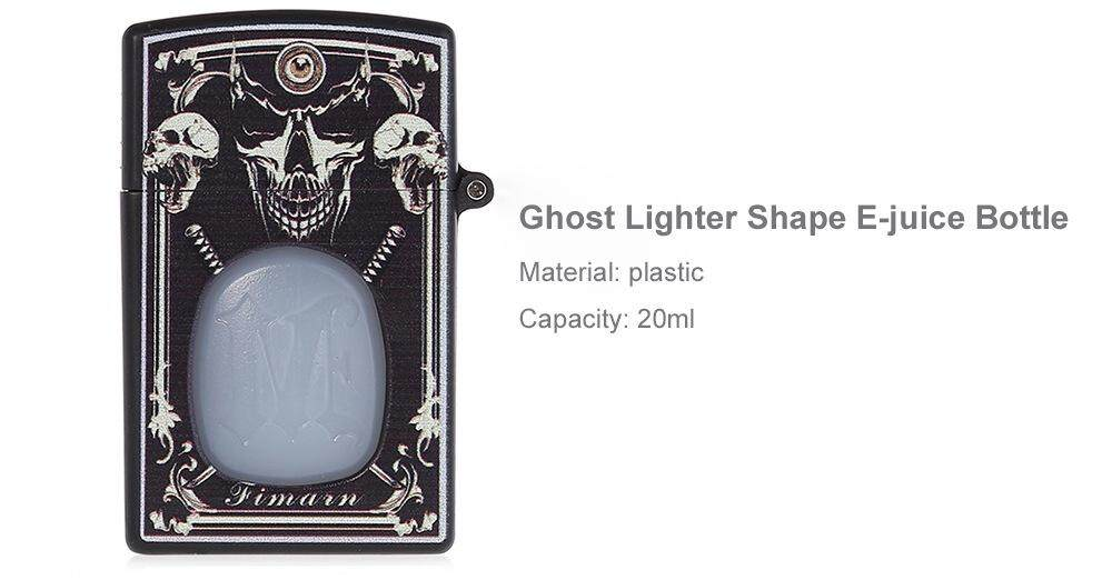 (2 units) Ghost Lighter Shape 20ml Capacity E-liquid Bottle