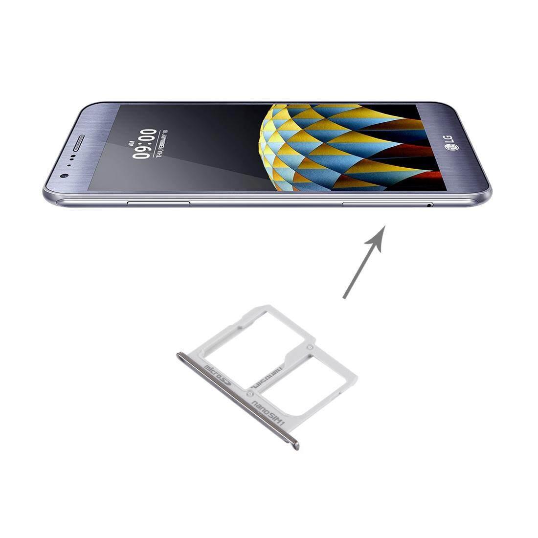 Saya Bagian Beli untuk LG X Kamera/K580 Baki Kartu SIM + Mikro Sd/Baki Kartu SIM (Perak) -Internasional