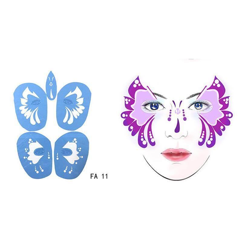 Lembut Wajah Badan Airbrush Henna Cat Stencil Sementara Tato Lukisan Desain Dapat Digunakan Kembali Template untuk Palsu Tatoo Barang Gratis- internasional