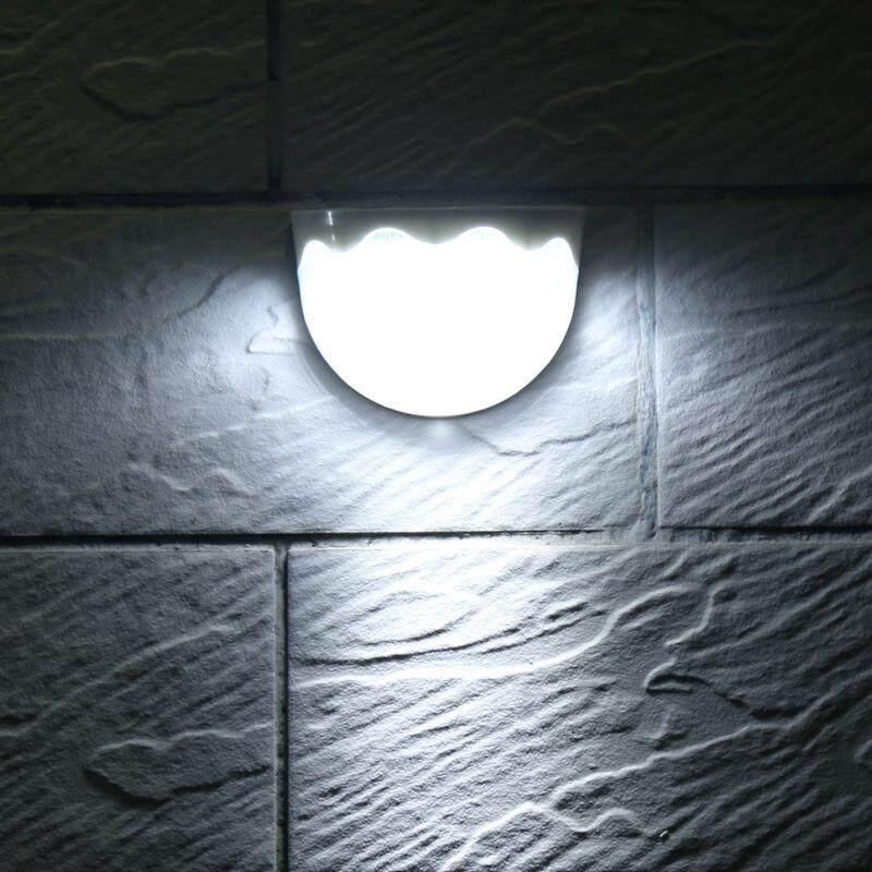 Dsstyles Lampu Tenaga Surya 6 LED Ringan Sensor Anti-Air Lampu Dinding Luar untuk Pagar Taman Pathway Balkon