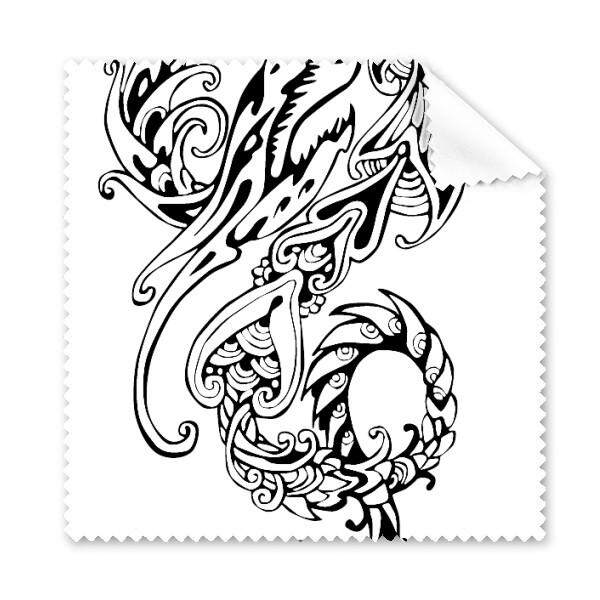 Cina Line Lukisan Cina Naga Seni Budaya Tradisional Kain Pembersih Kaca Kain Lap Hadiah Pembersih Layar HP 5 Pcs-Intl