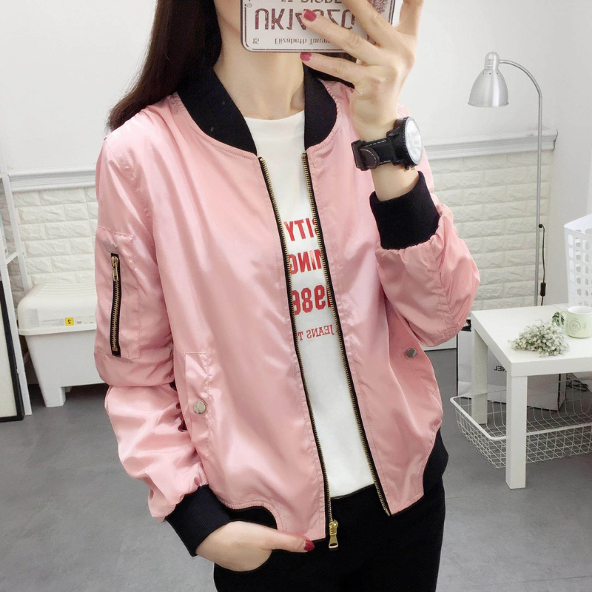 Clothing Autumn Women Jacket All-Match Female Casual Baseball Jacket By Love Mmbb Shop.