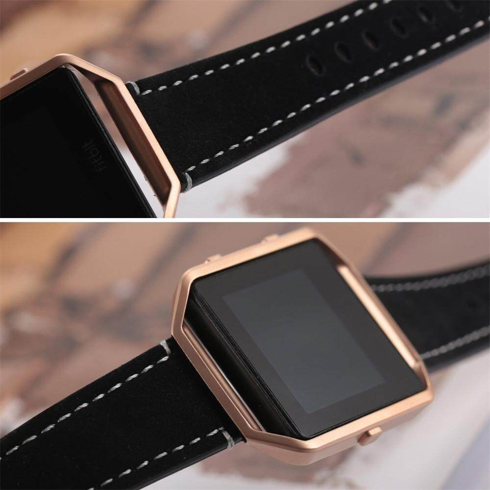 Luxury Leather Watch Band Wrist strap+Metal Frame For Fitbit Blaze Smart Watch Finleyshop -