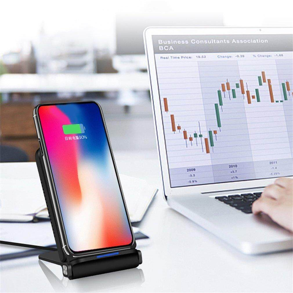 Discount Uinn Foldable Design Wireless Qi Standard Charger Stand Type Double Coils Charger Black Intl