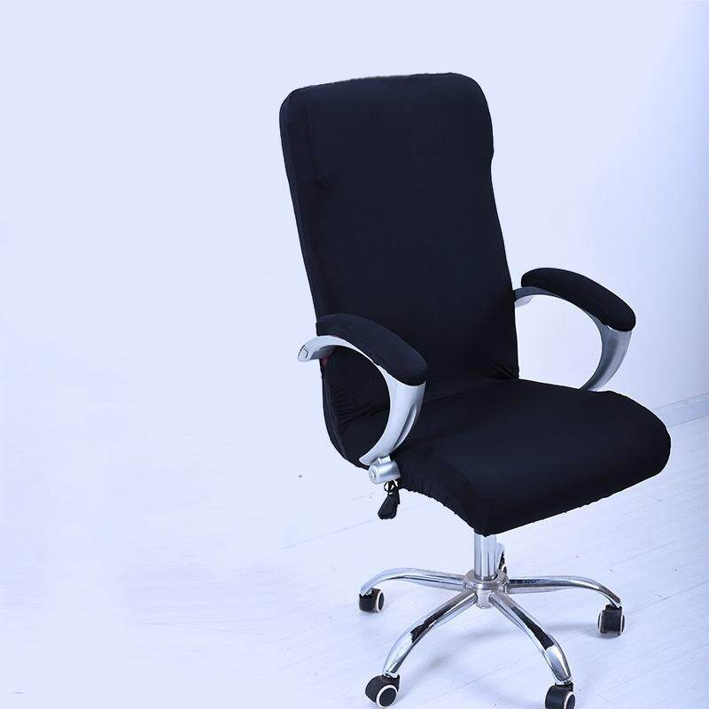 S Spandex Office Chair Cover Slipcover Armrest Cover Computer Seat Cover Stool Swivel Chair Elastic(Chair is NOT included)#Black - intl