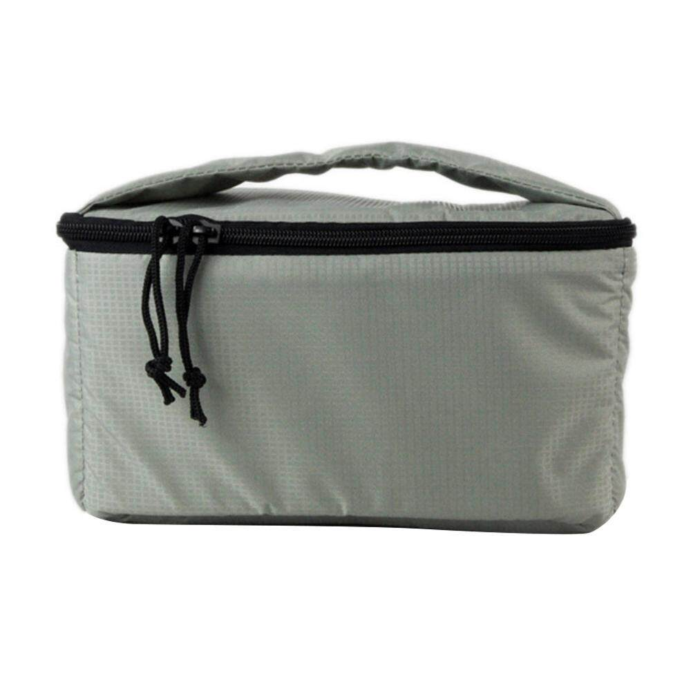 hazobau DSLR Camera Insert Case Shockproof Waterproof Padded Partition Protective Bag Cover Travel for Sony Canon Nikon Olympus Pentax and More (Light Grey)