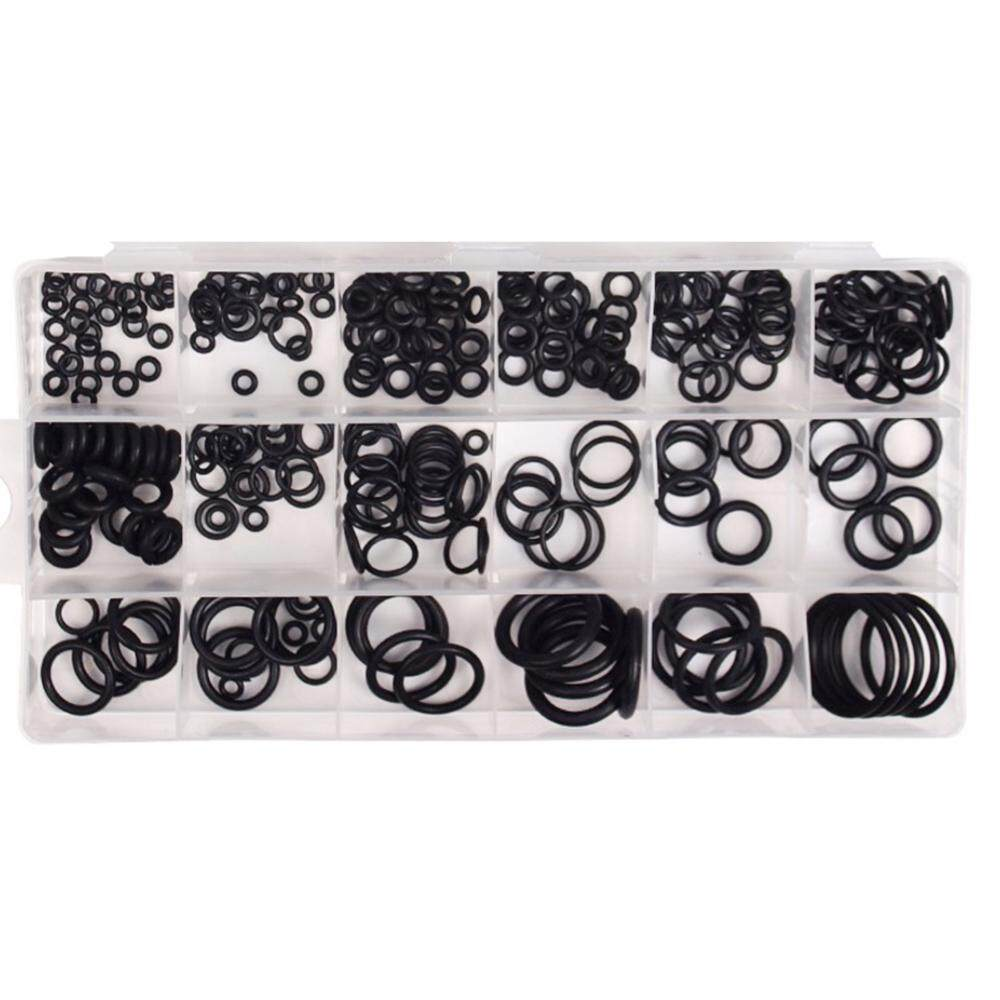 225PCS Car Air Conditioning O-Type Repair Box Seal Rubber Washer Assortment Set NBR O