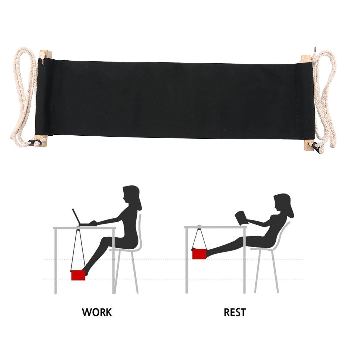 weizhe Portable Adjustable Mini Office Foot Rest Desk Feet Hammock - intl